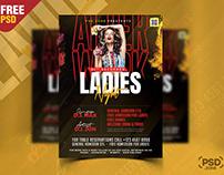 Ladies Night Party Flyer PSD Design