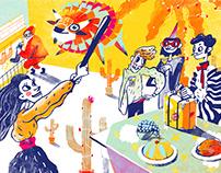Illustrations for Lillet, Havana Club, Jameson, Olmeca