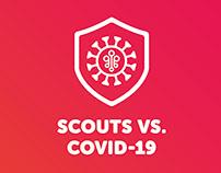 Scouts vs. COVID-19 brand identity