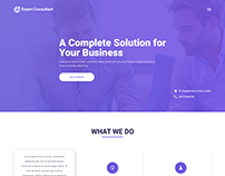 Expert Consultant – PSD Template