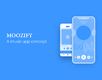 Moozify | A music app concept - Wireframes