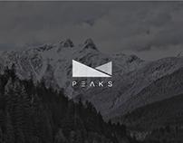 logo design | P E A K S