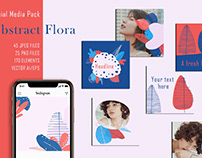 Abstract Flora - Social Media Pack