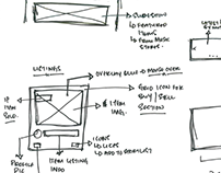 Ideas, Wireframes, Raw Designs