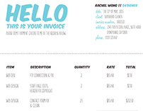 Sample Creative Invoice