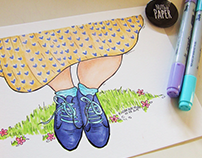 My blue suede shoes | Illustration