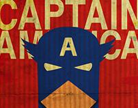 Captain America Vintage poster