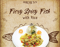 Fiery Spicy Fish Browns Cafe Islamabad