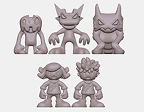Energy Monsters - Game Pieces