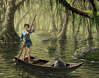 Digital Illustration: Bayou Girl