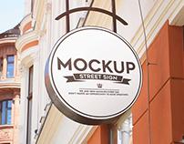 40+ Street & Facade Signage Mockup Templates