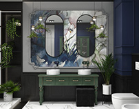 Elegant art deco bathroom