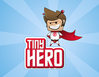Logo and character design for TinyHero.com