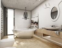 scandinavian bathroom ~