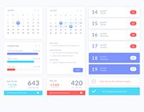 2017 Calendar UI Concept