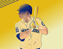 Seattle Mariners 40th Anniversary illustrations 2017