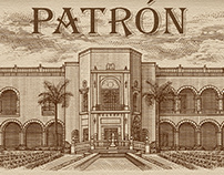 Patrón Estate Release Label Illustrated by Steven Noble