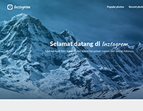 Inztagrem UI Photo Gallery