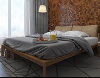 Design interior of bedrooms in a Scandinavian style