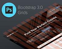 Bootstrap 3.0 Responsive PSD Grid, Mobile & Desktop