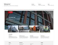 Wegner - website for construction company