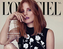 "Jessica Chastain for ""L'Officiel"" NL"