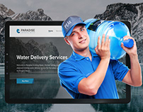 Homepage design for a Water Company