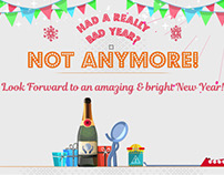 Happy New Year vs Bad Old Year - Humorous Greetings