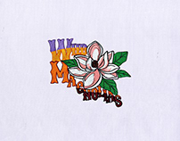 WILD PINK MAGNOLIA FLOWERS EMBROIDERY DESIGN