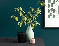 Table Vase Scene