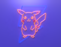 Pokeman GO Pikachu Neon Sign