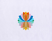 COLORFUL AND BLOOMING FLOWER EMBROIDERY DESIGN