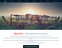 Agritech website design