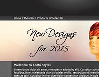 Lotta Styles Scarfs Designs Website Design