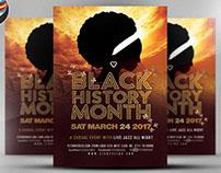 Black History Month Flyer Template v2
