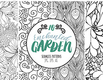 Enchanted Garden Seamless Patterns