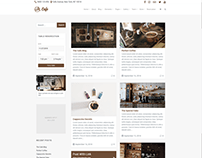 Blog Masonry Left Sidebar - Cafe WordPress Theme