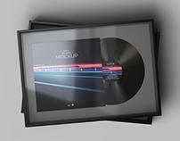 Framed Vinyl Record Mockup