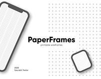 PaperFrames - Printable Wireframes
