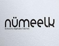 Création logo marque boisson végétales fraîches numeelk