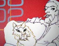 Picassimal Modern Pet Art - Oliver's Pet Memorial