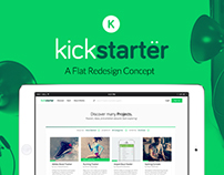 Kickstarter Flat Re-Design Concept