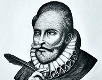 Cervantes pen illustration