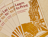 St Bride Foundation Flyer: letterpress & linocut