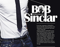 Exclusive interview with Bob Sinclar, Design, layout.