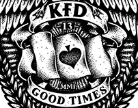 KFD Skateboards - 13 Year Anniversary Crest