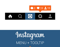 FREE | Instagram Menu and Notification Tooltip