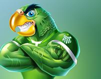 Mascote Periquitão Uberlândia Esporte Clube