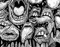 Ilustración 'Los Bárbaros 3' (cuento 'Collage')