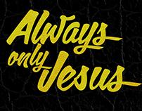 Jesus graphic (lettering)